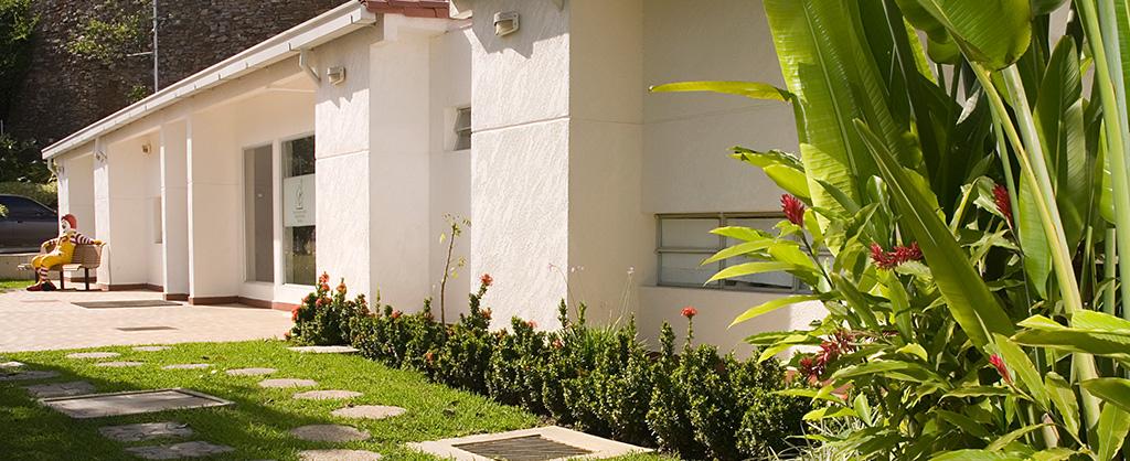 El exterior de la Casa Ronald McDonald en Baruta.